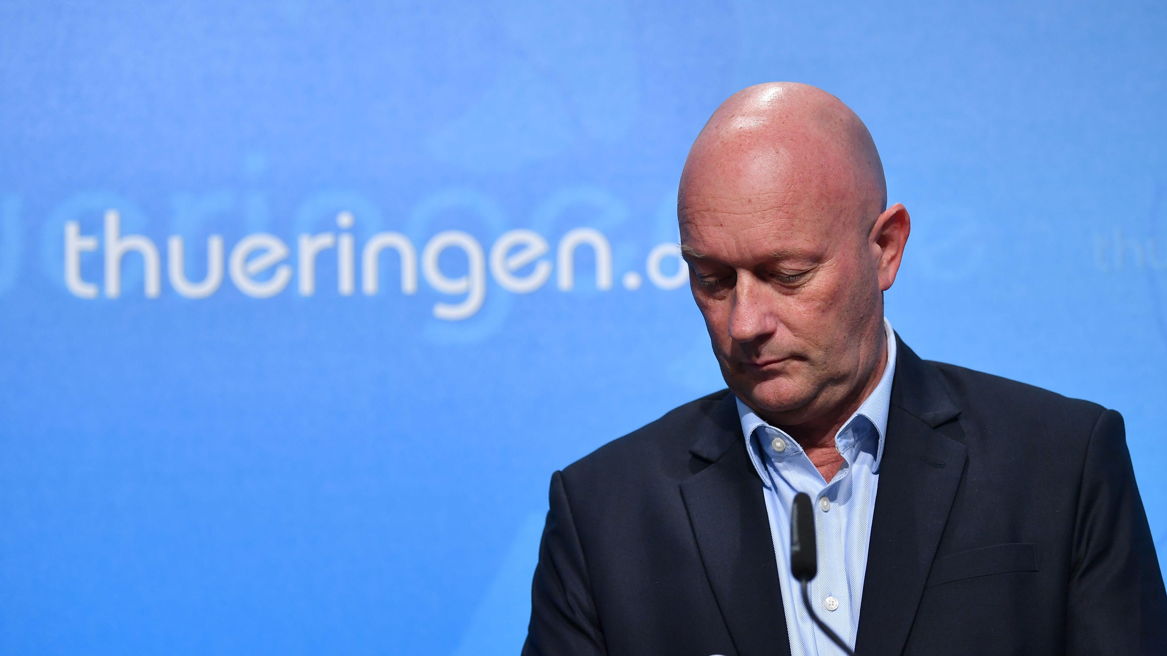 Der wahrscheinlich kürzeste Ministerpräsident in der Geschichte der BRD, Thomas Kemmerich (FDP)