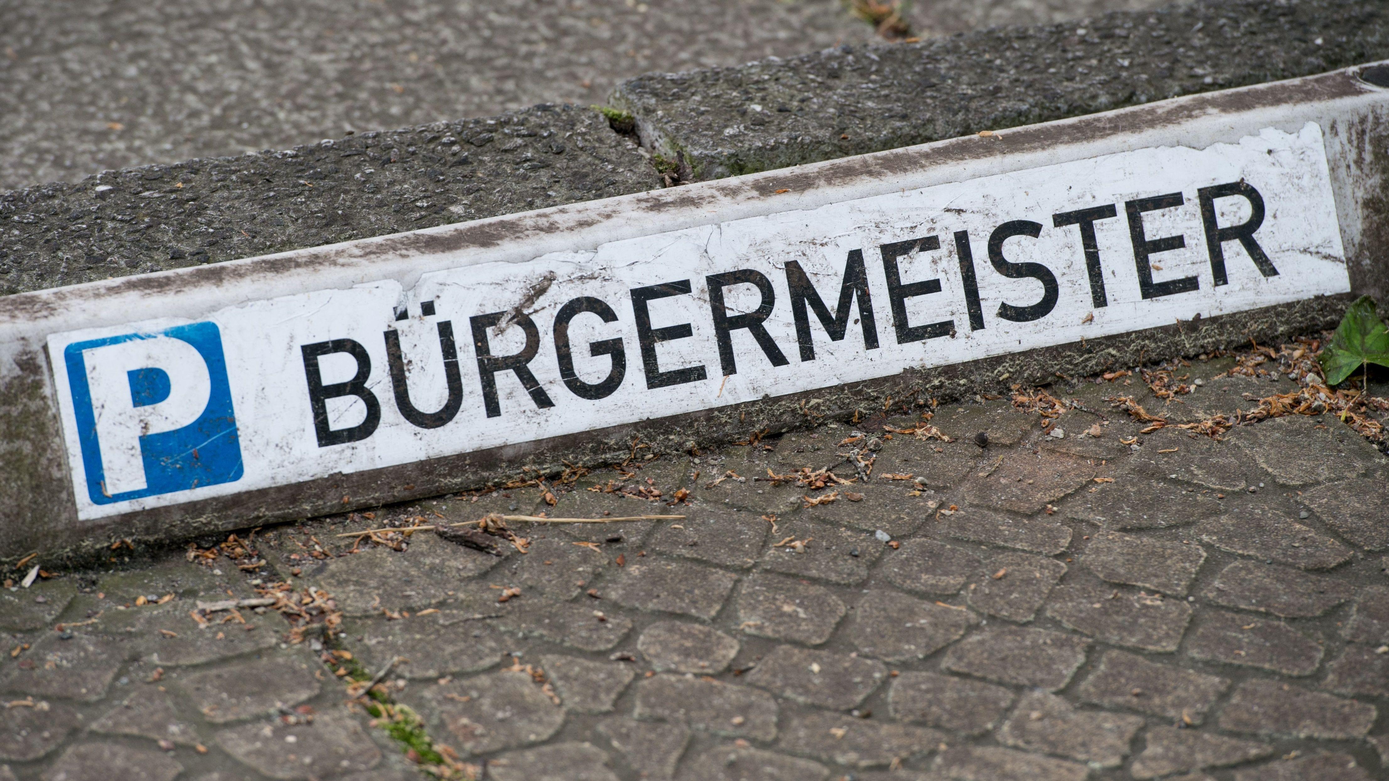 Parkplatz für einen Bürgermeister