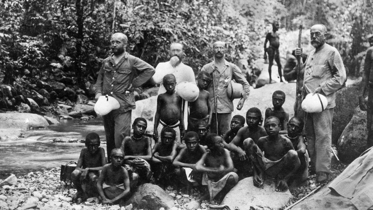 Lichtgestalt ohne Skrupel: Robert Koch (r.) auf einer Südafrika-Expedition zur Erforschung der Rinderpest
