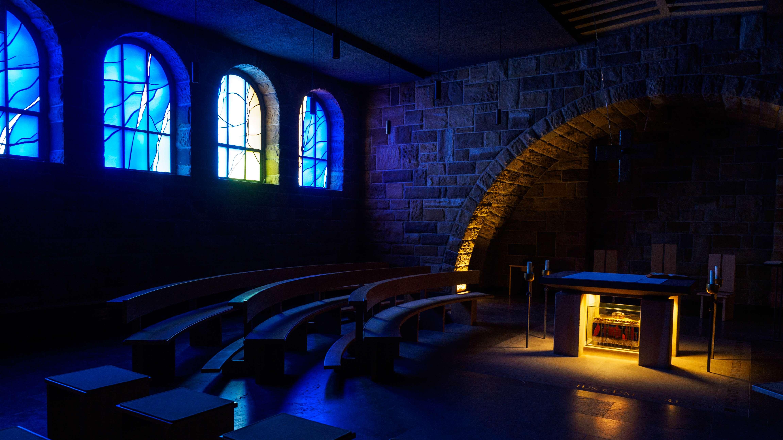 Ein Andachtsraum in der Abtei Münsterschwarzach