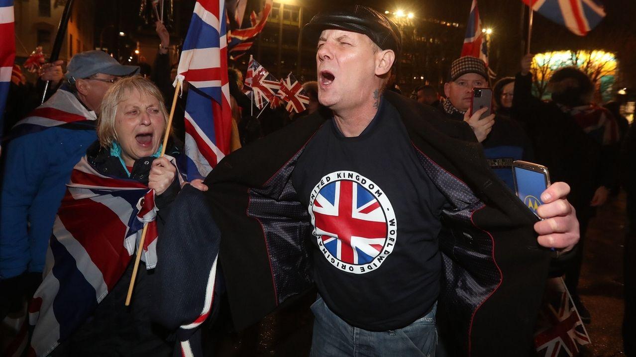 Brexit-Anhänger feiern den Austritt aus der EU