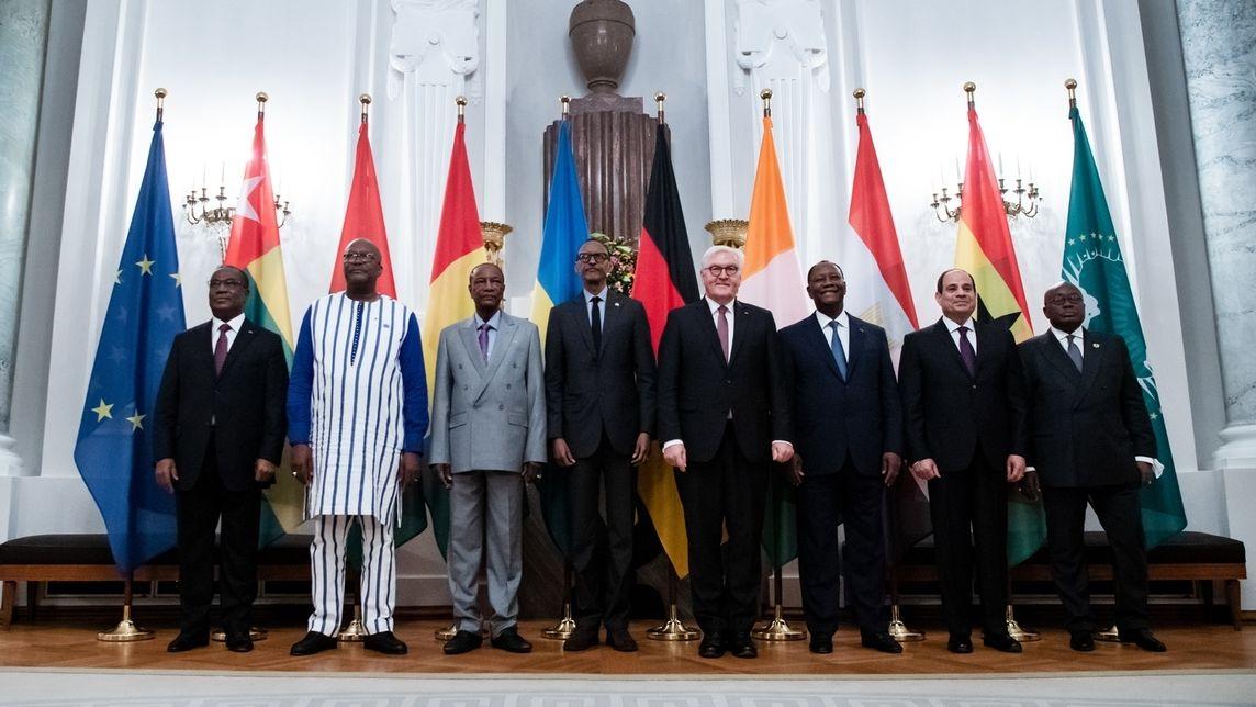 """Compact with Africa"" - Teilnehmer beim Bundespräsidenten"