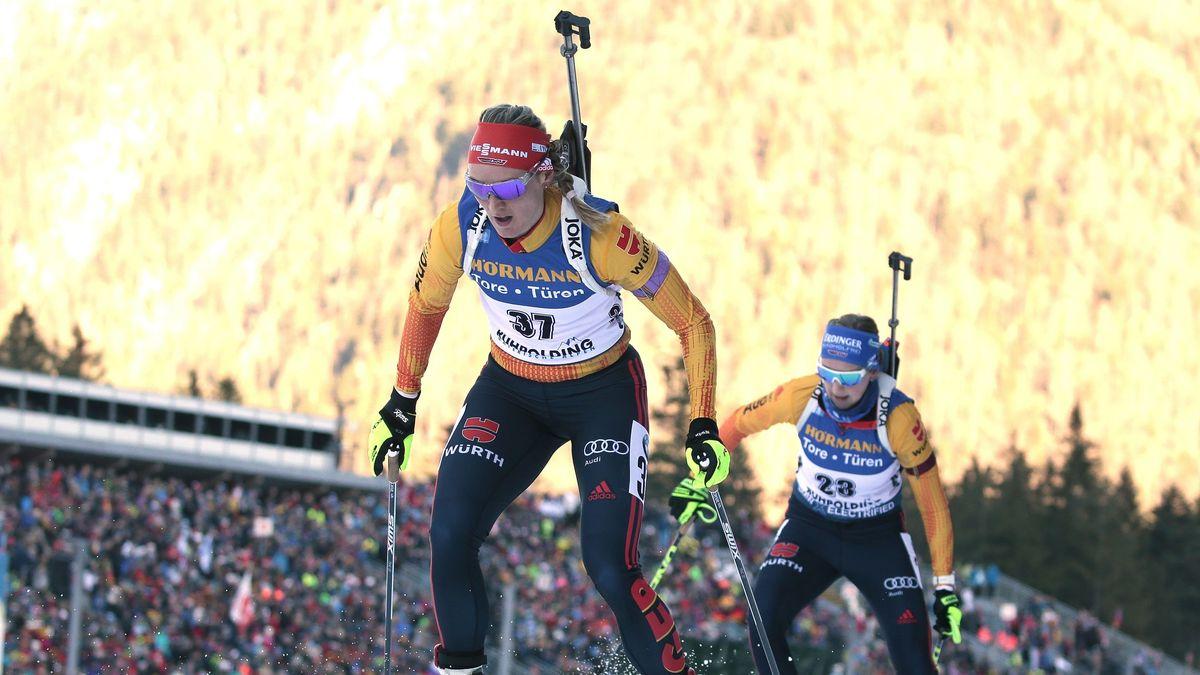 Biathletinnen beim Weltcup in Ruhpolding