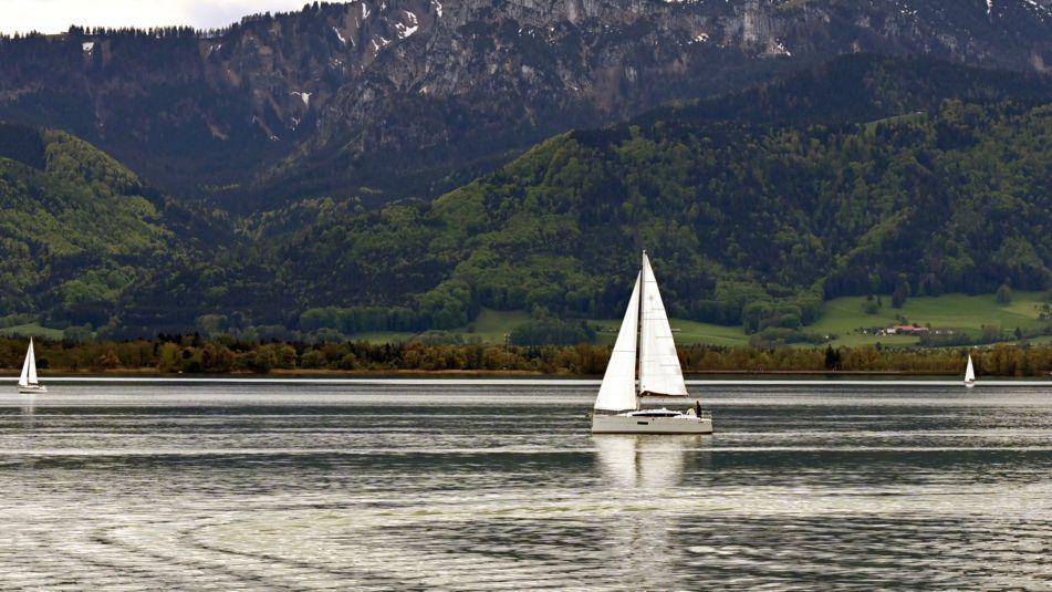 Boote auf dem Chiemsee