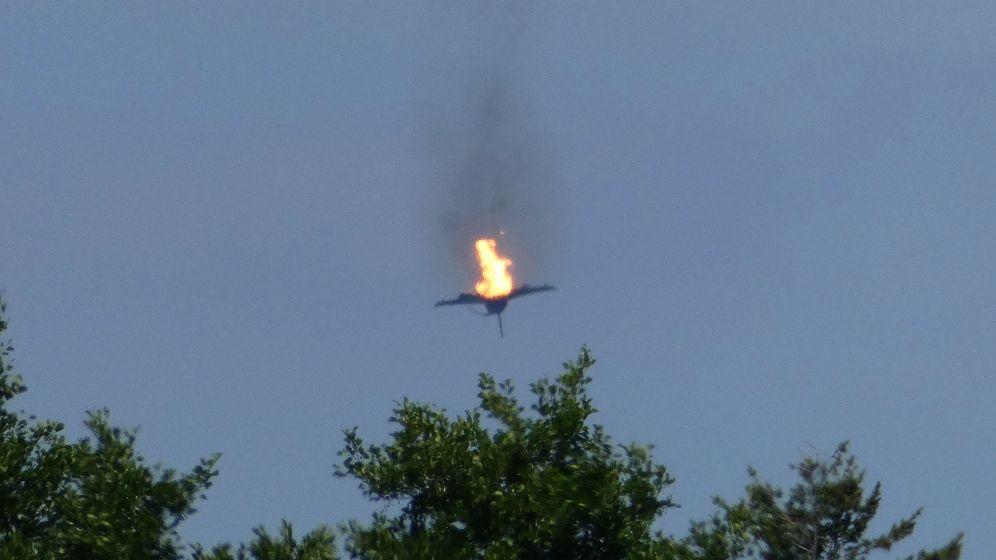 Eurofighter abgestürzt | Bild:dpa-Bildfunk/Thomas Steffan