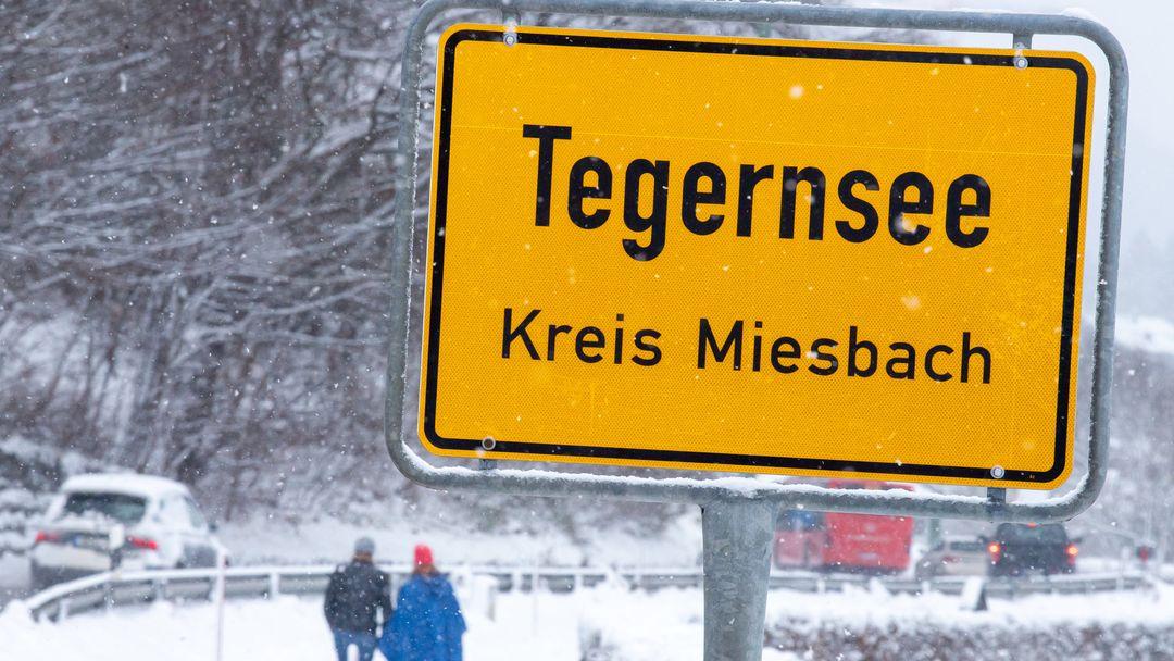 Strassenschild von Tegernsee