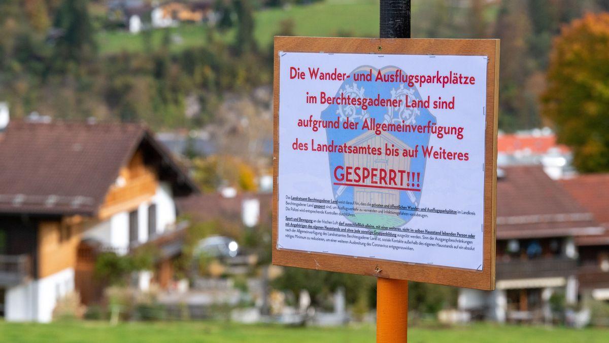 Archivbild zum zweiwöchigen faktischen Lockdown im Berchtesgadener Land vom 20.10.20 bis 02.11.20