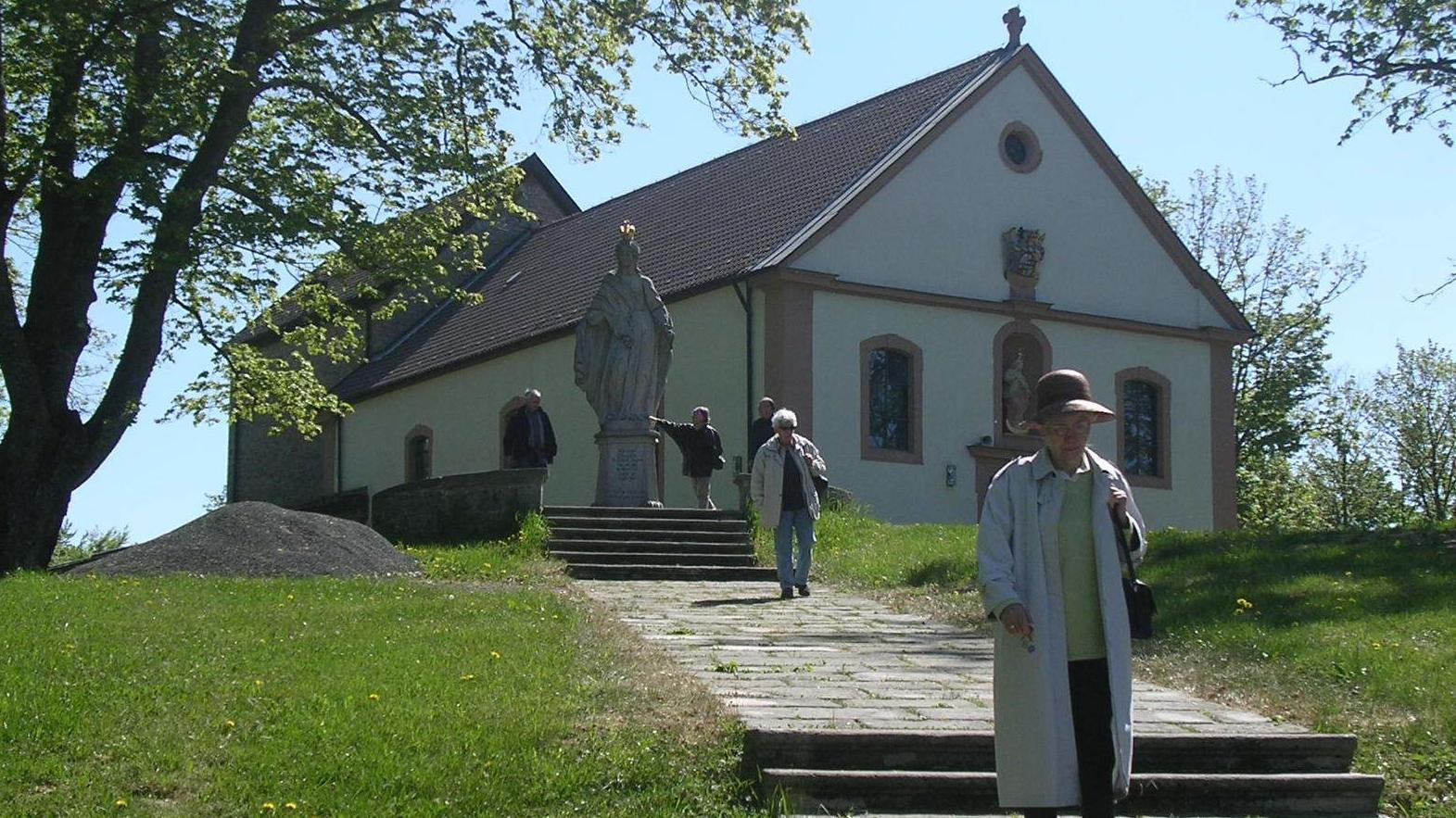 Der Maria Ehrenberg in der Rhön liegt mitten im Gebiet des Truppenübungsplatzes Wildflecken.