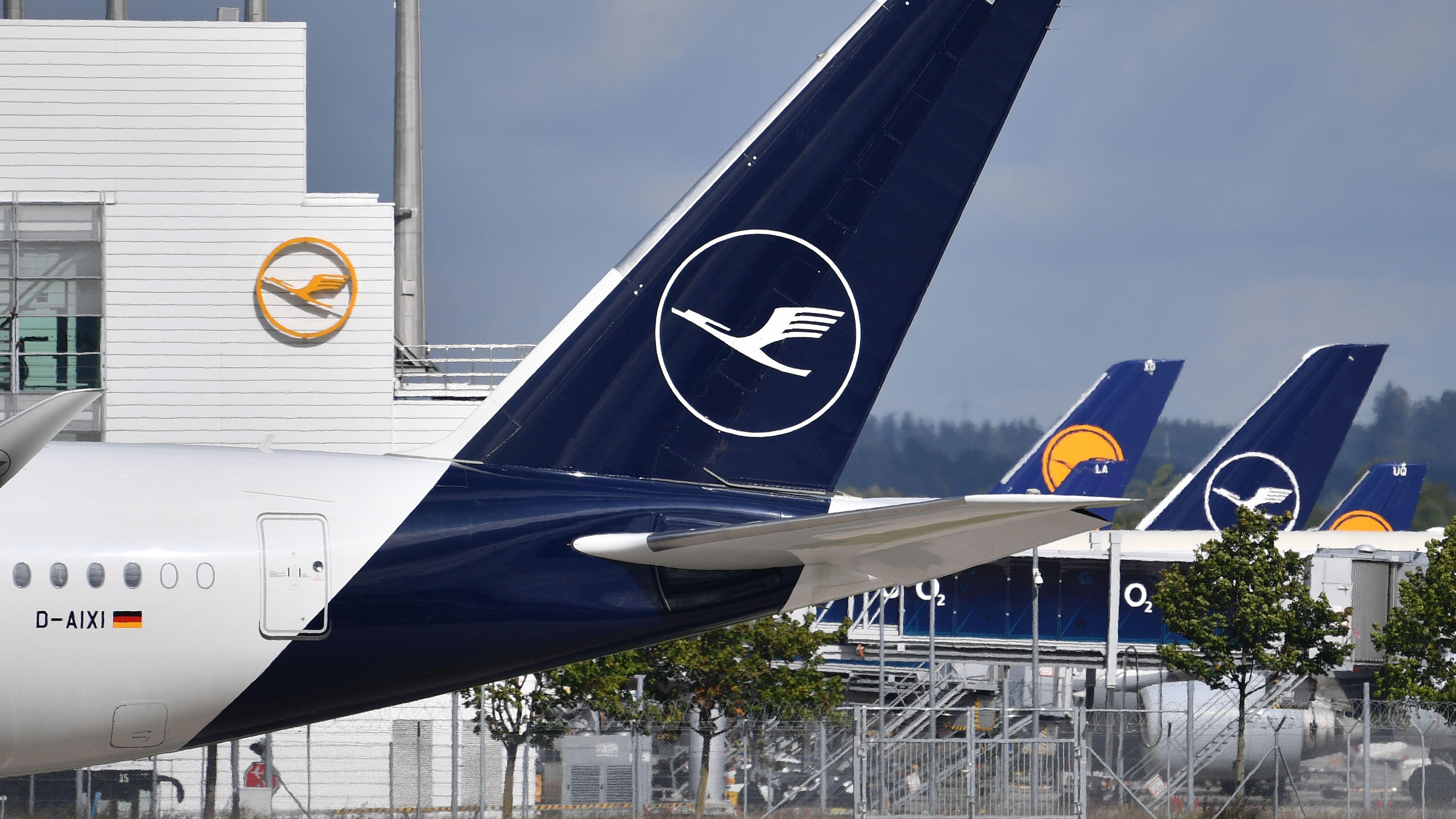 Maschinen der Lufthansa auf dem Flughafen München