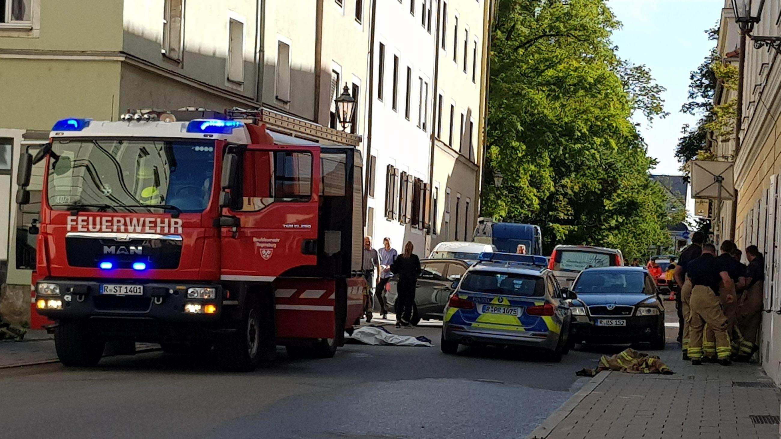 Zwei Tote bei Wohnungsbrand in der Regensburger Altstadt