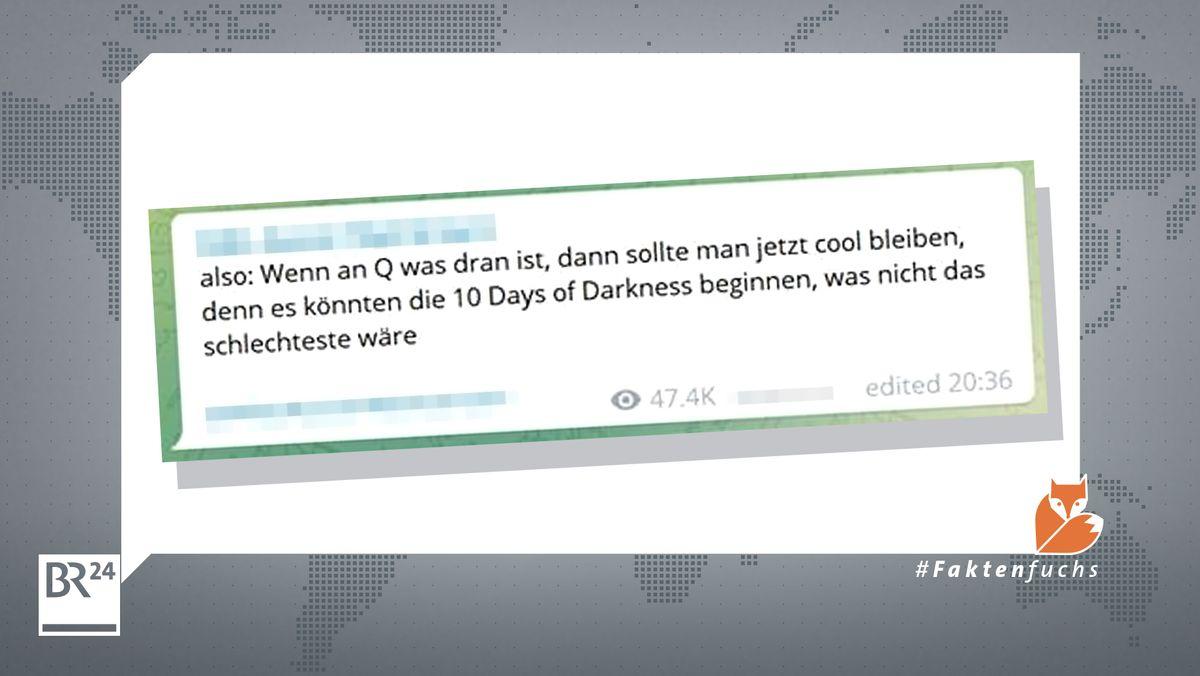 """Ein Telegram-Post prophezeit """"Zehn Tage Dunkelheit"""""""