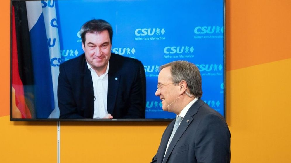 Digitaler Neujahrsempfang der NRW-CDU | Bild:Federico Gambarini/dpa-POOL/dpa