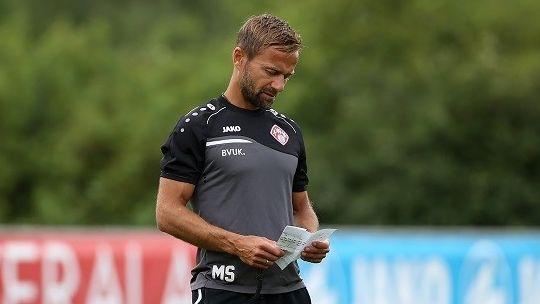 Michael Schiele, auf dem Bild noch Trainer der Würzburger Kickers