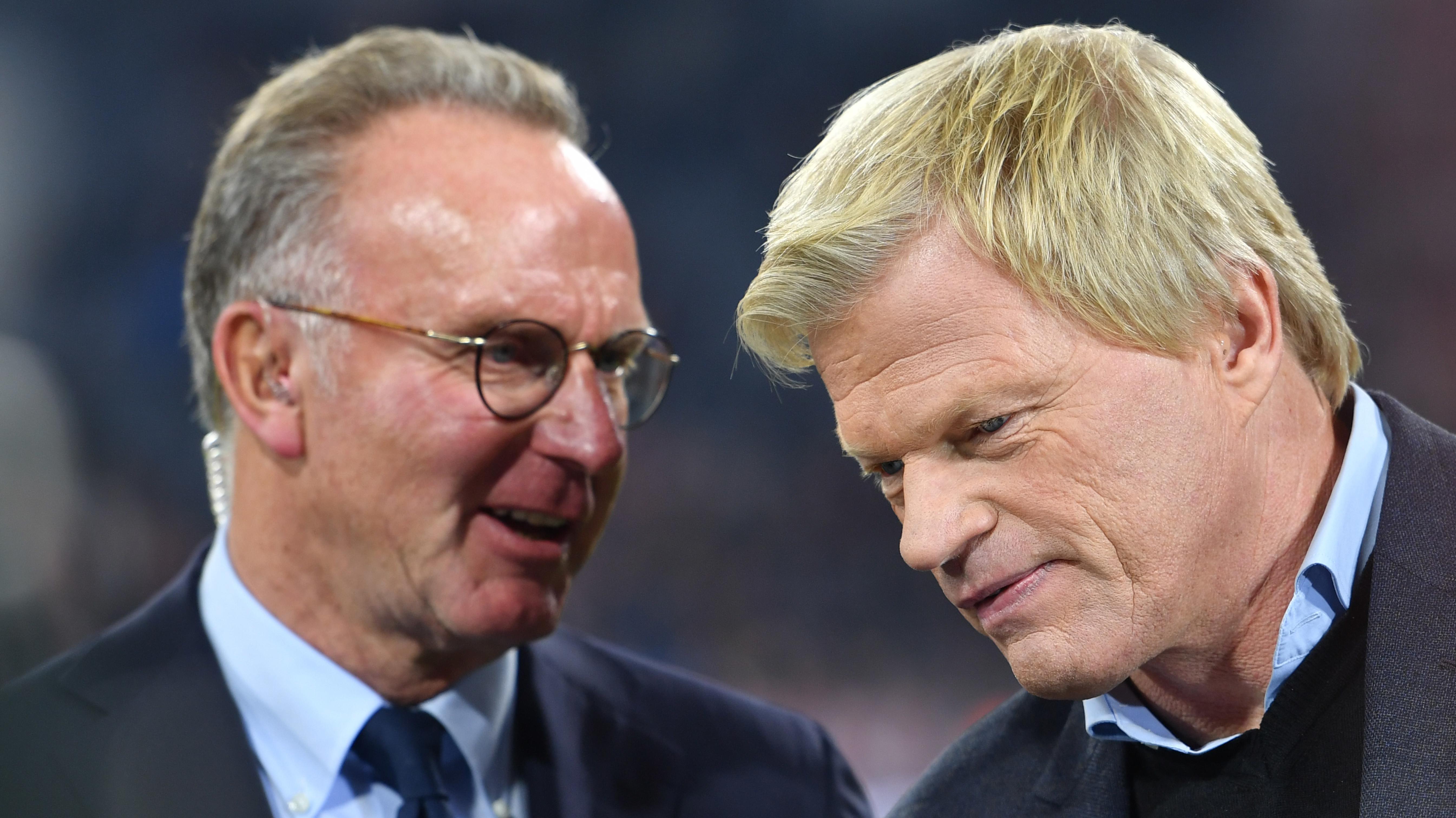 Karl-Heinz Rummenigge (l.) und Oliver Kahn