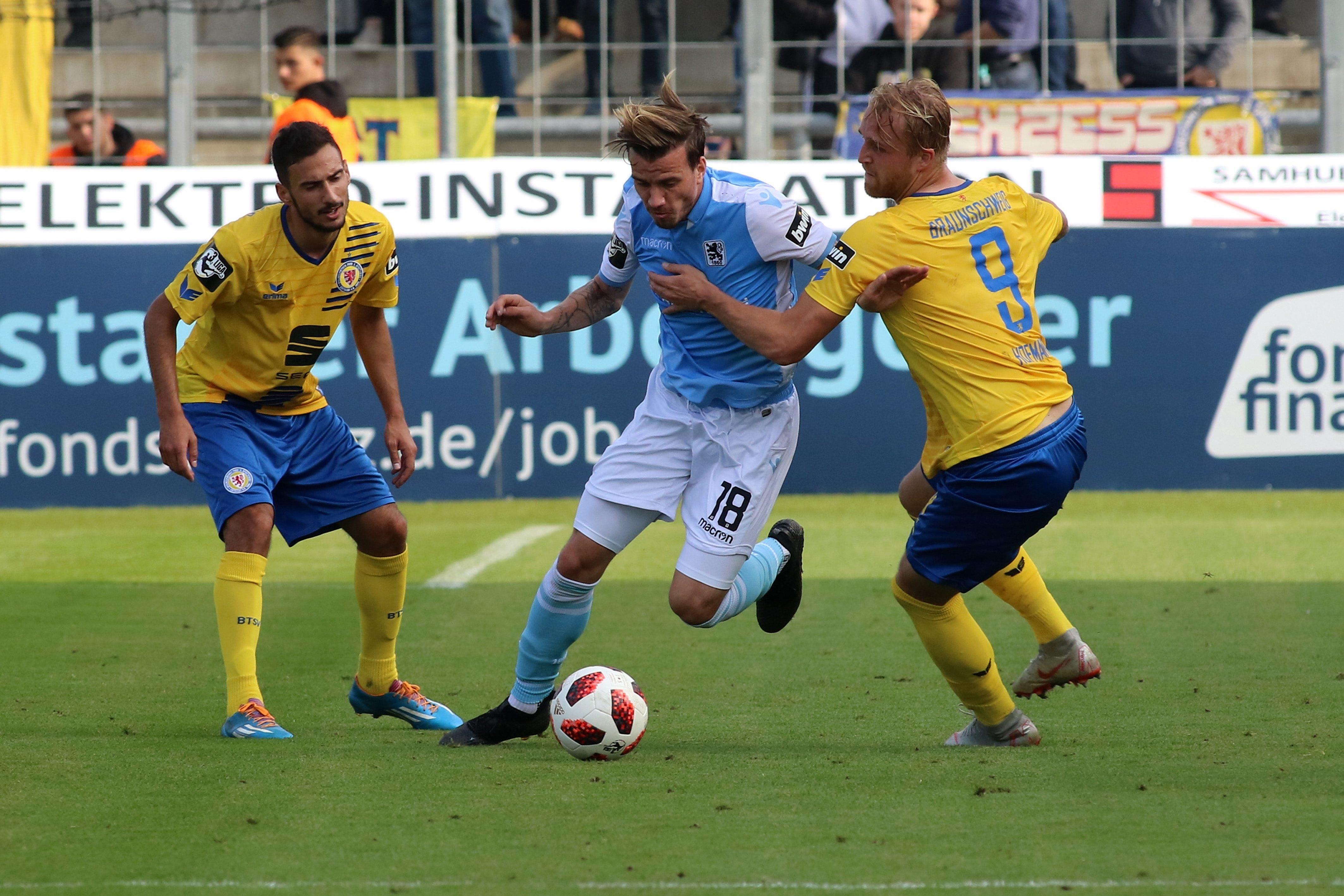 Spielszene TSV 1860 München - Eintracht Braunschweig aus der Saison 2018/19