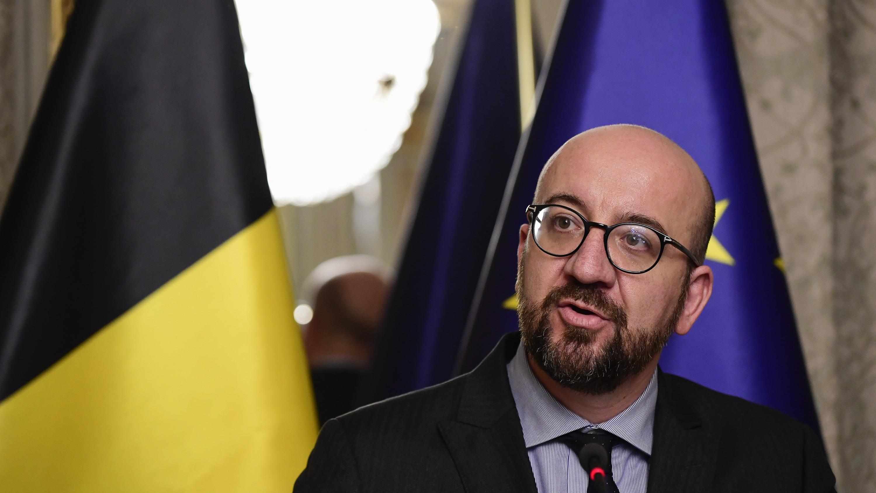Der belgische Premierminister Charles Michel