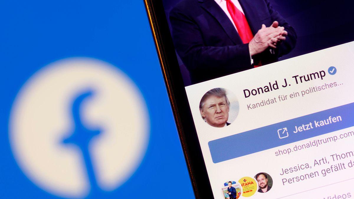 Facebook-Logo / Profil von Donald Trump