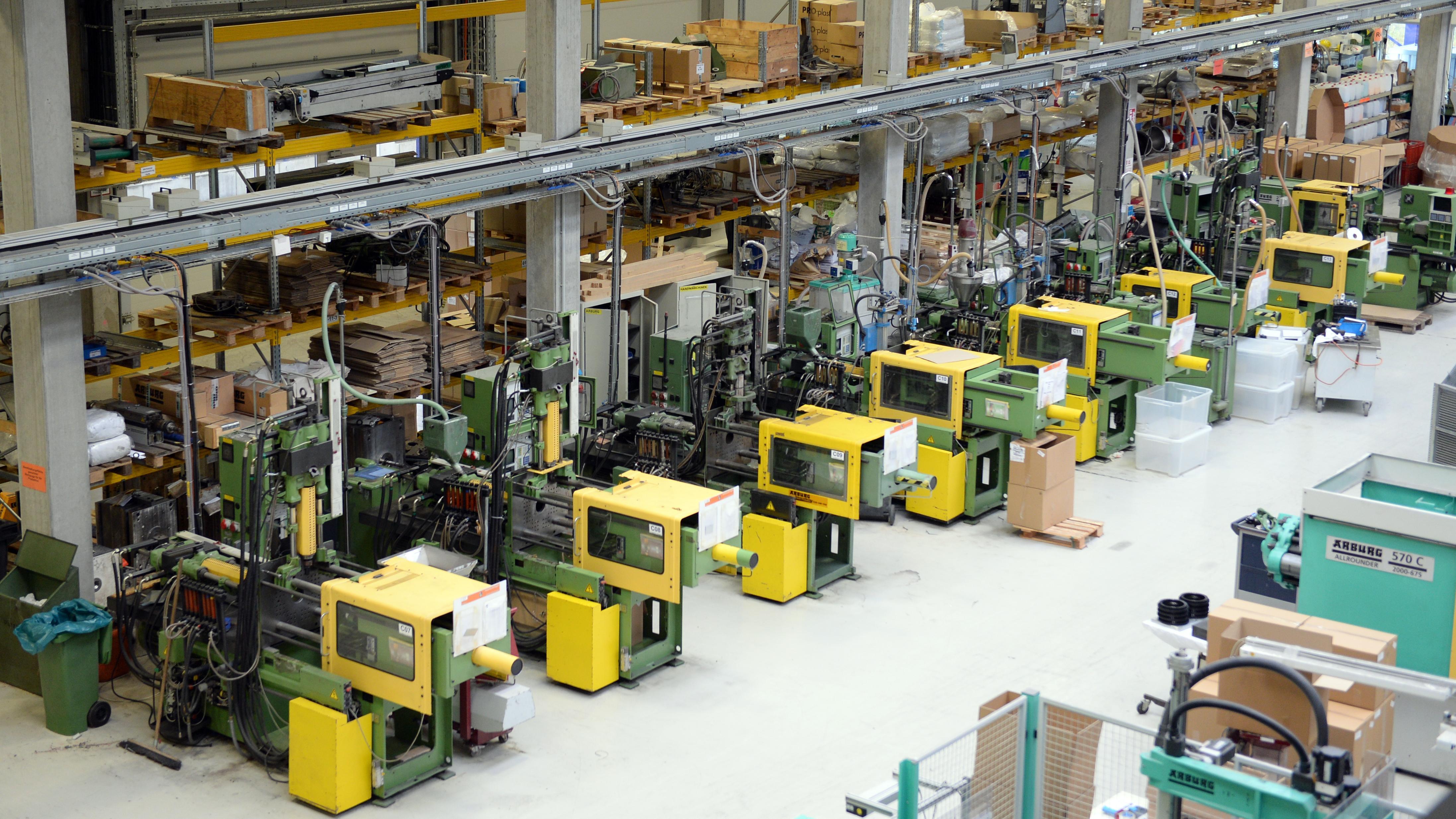 Produktionshalle von Familienunternehmen