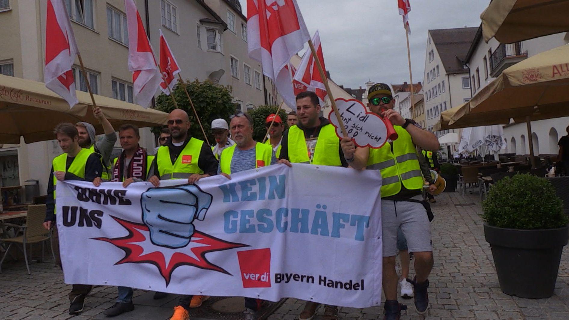 Gewerkschafts-Demo in Kempten