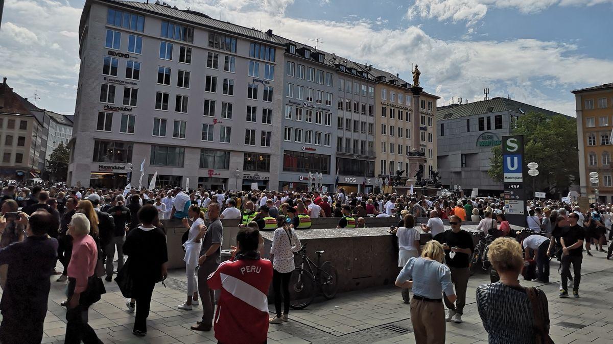 Protest gegen Corona-Maßnahmen in München