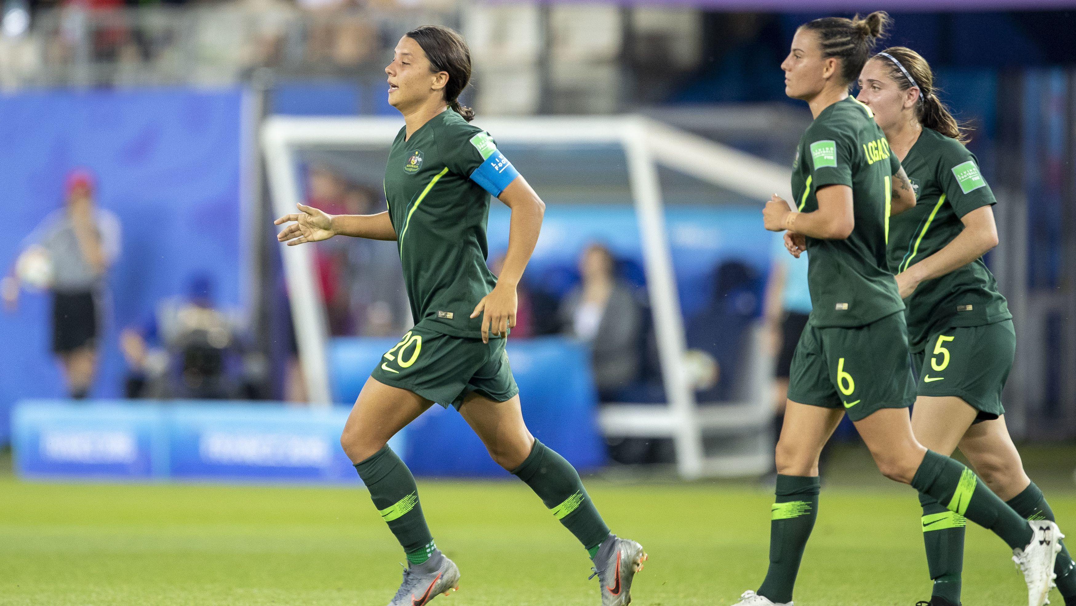 Jubel bei der Frauen-Nationalmannschaft aus Australien