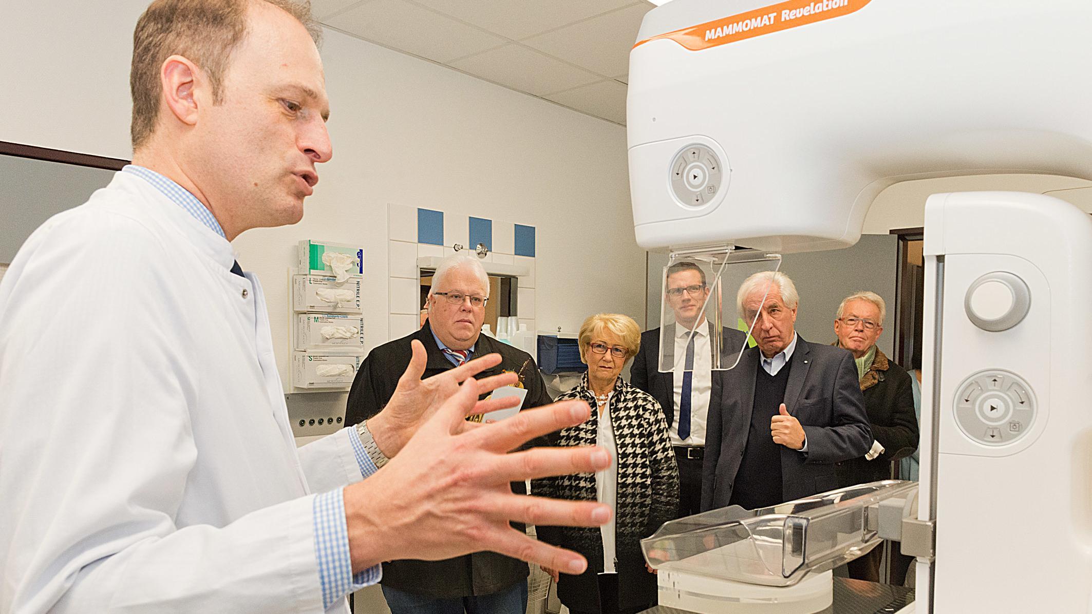 Die neue Mammographie-Anlage am Augsburger Klinikum.