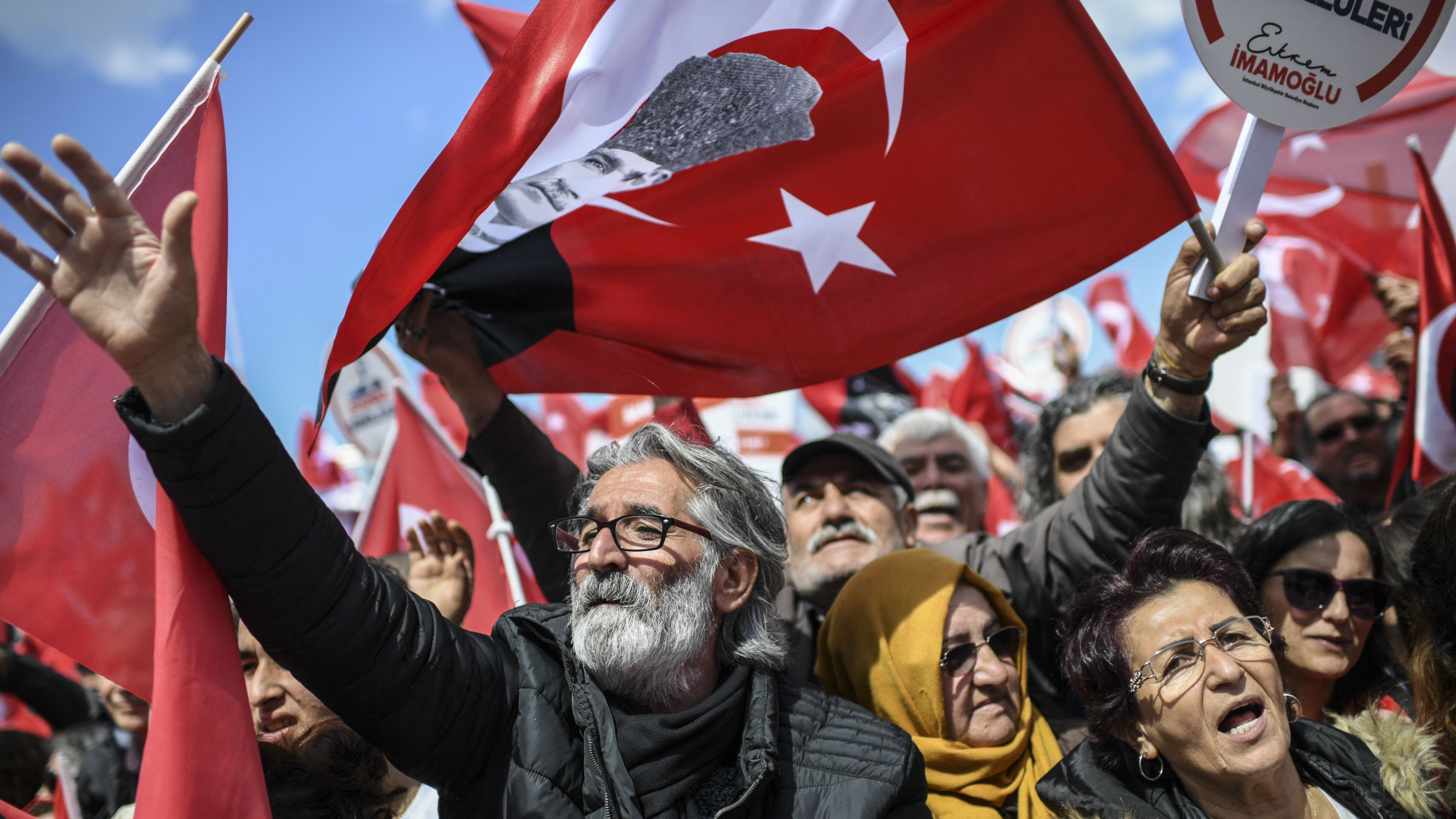 Unterstützer von Ekrem Imamoglu