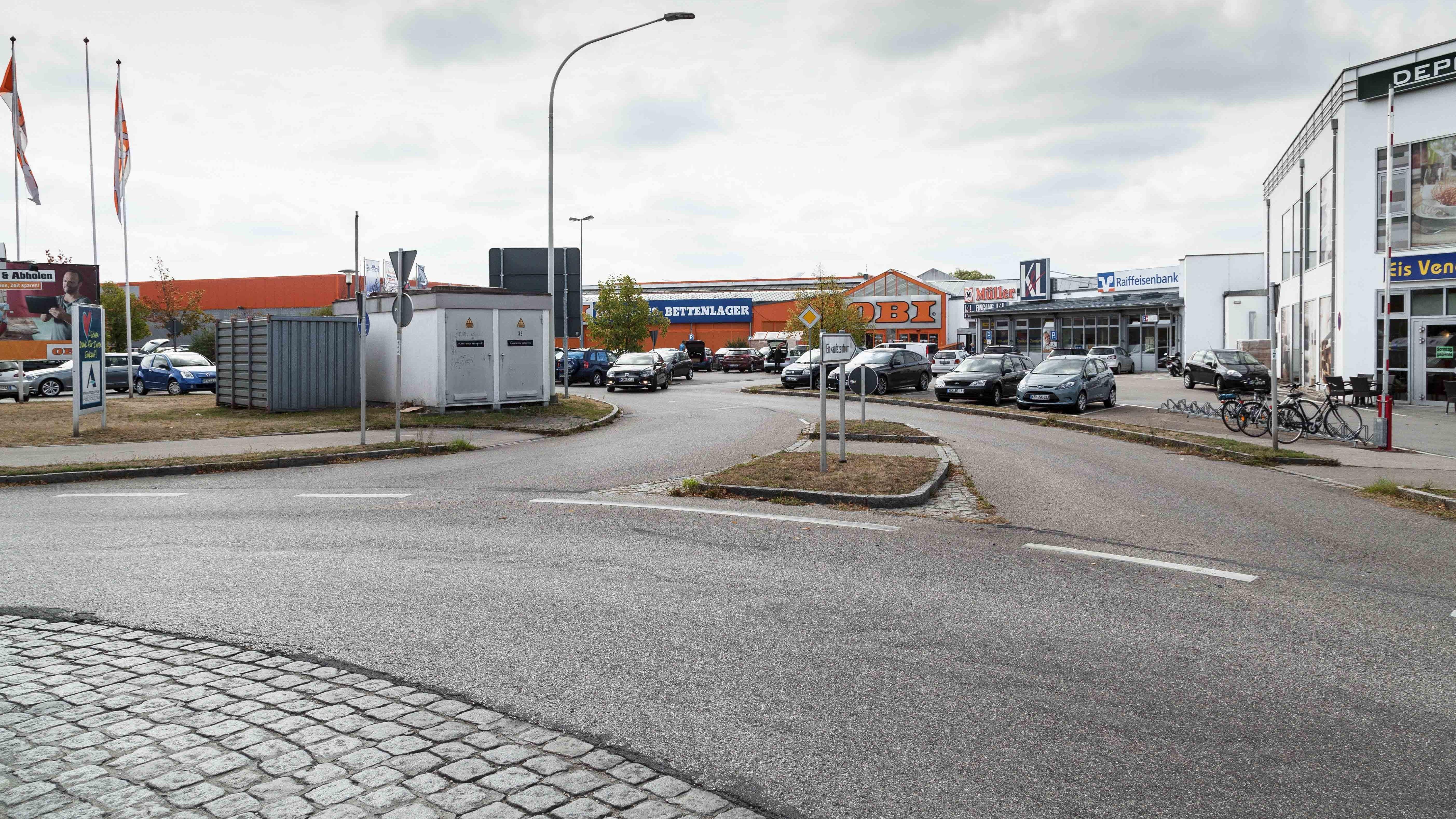 Beispiel für Flächenverbrauch: Marktflächen in Abensberg in Oberbayern