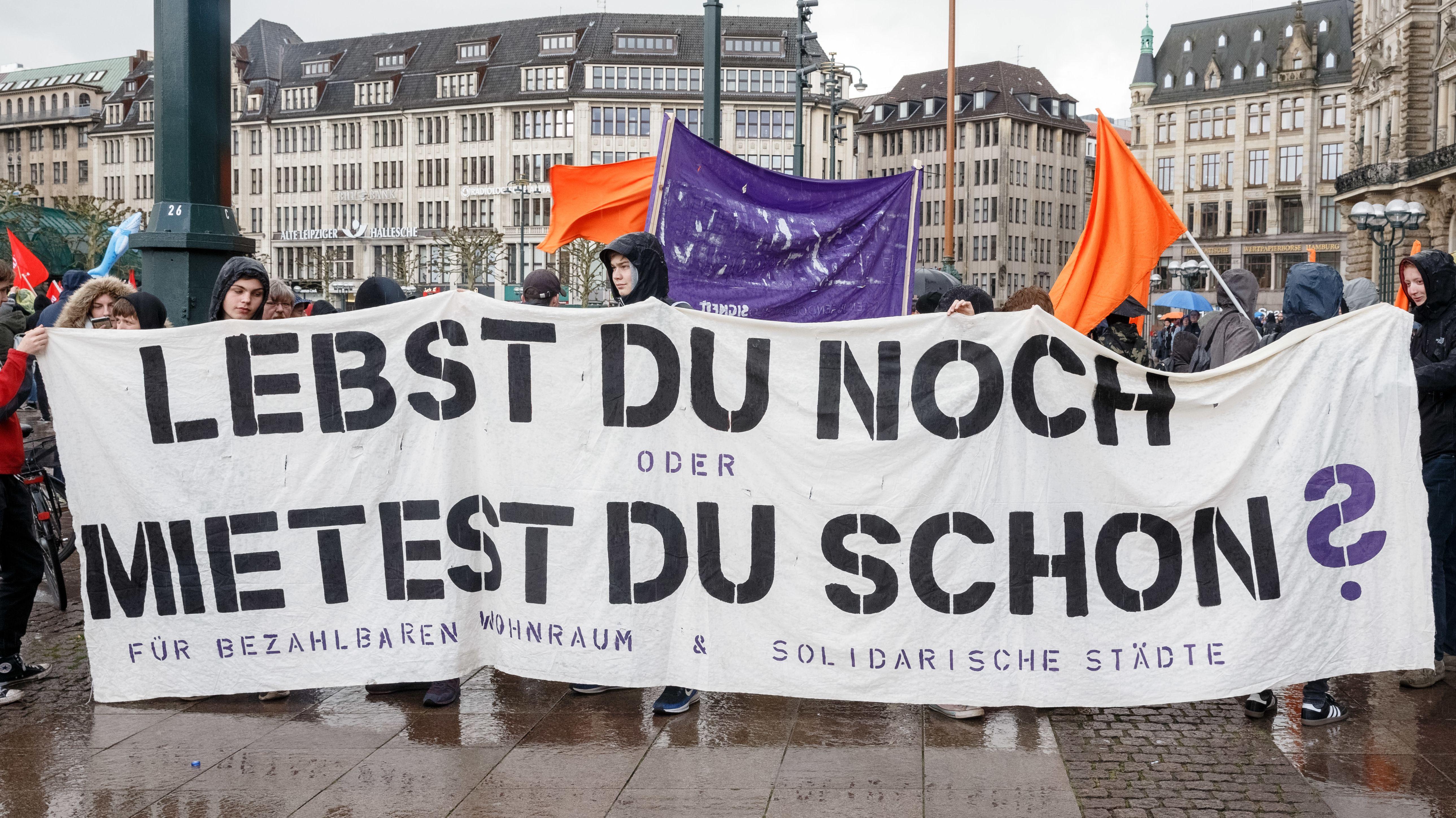 Demonstration in Hamburg am 4.5.19 für bezahlbaren Wohnraum