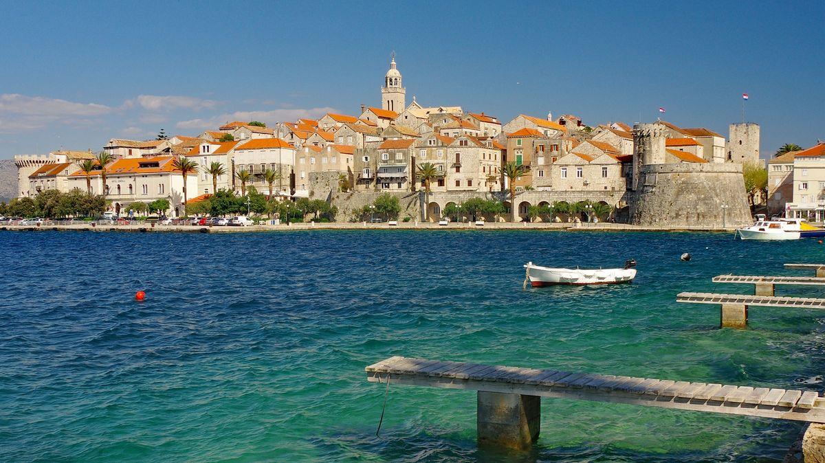 Bliebtes Urlaubsziel in Kroatien: die Insel Korčula.