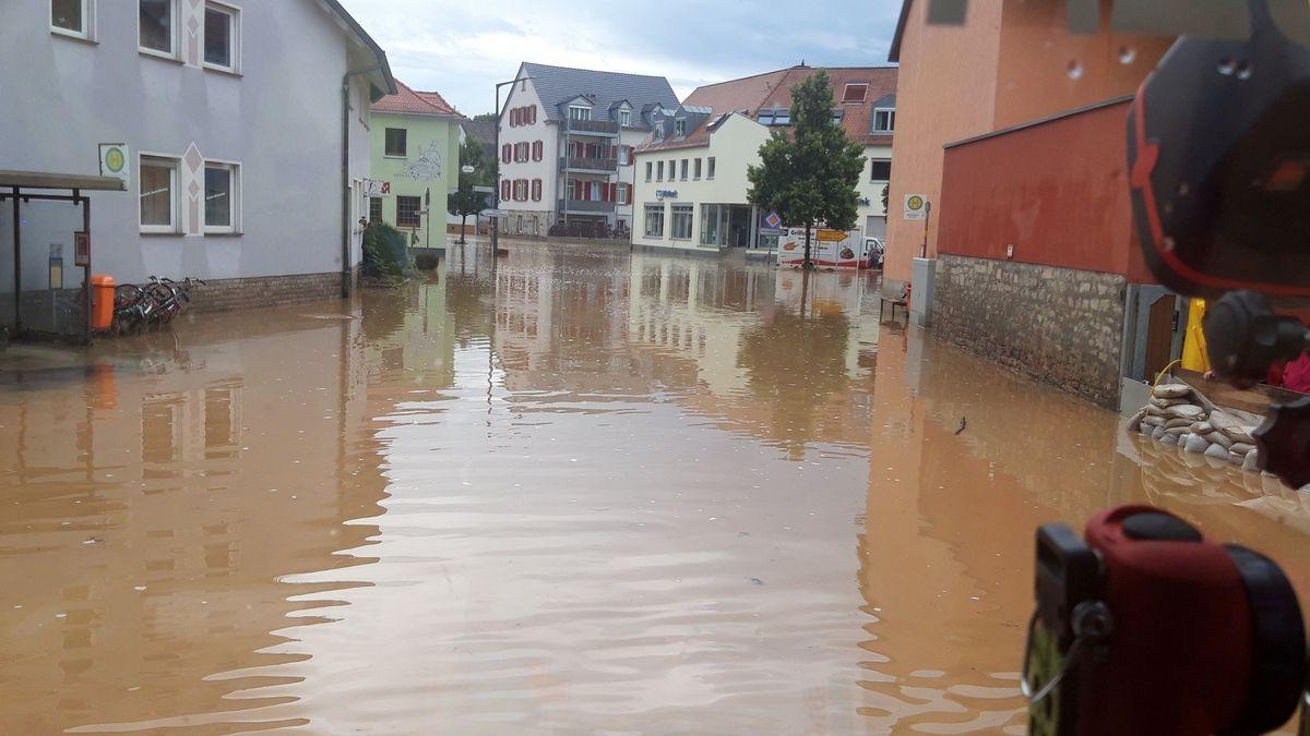 Hochwasser in Reichenberg (Lkr. Würzburg)
