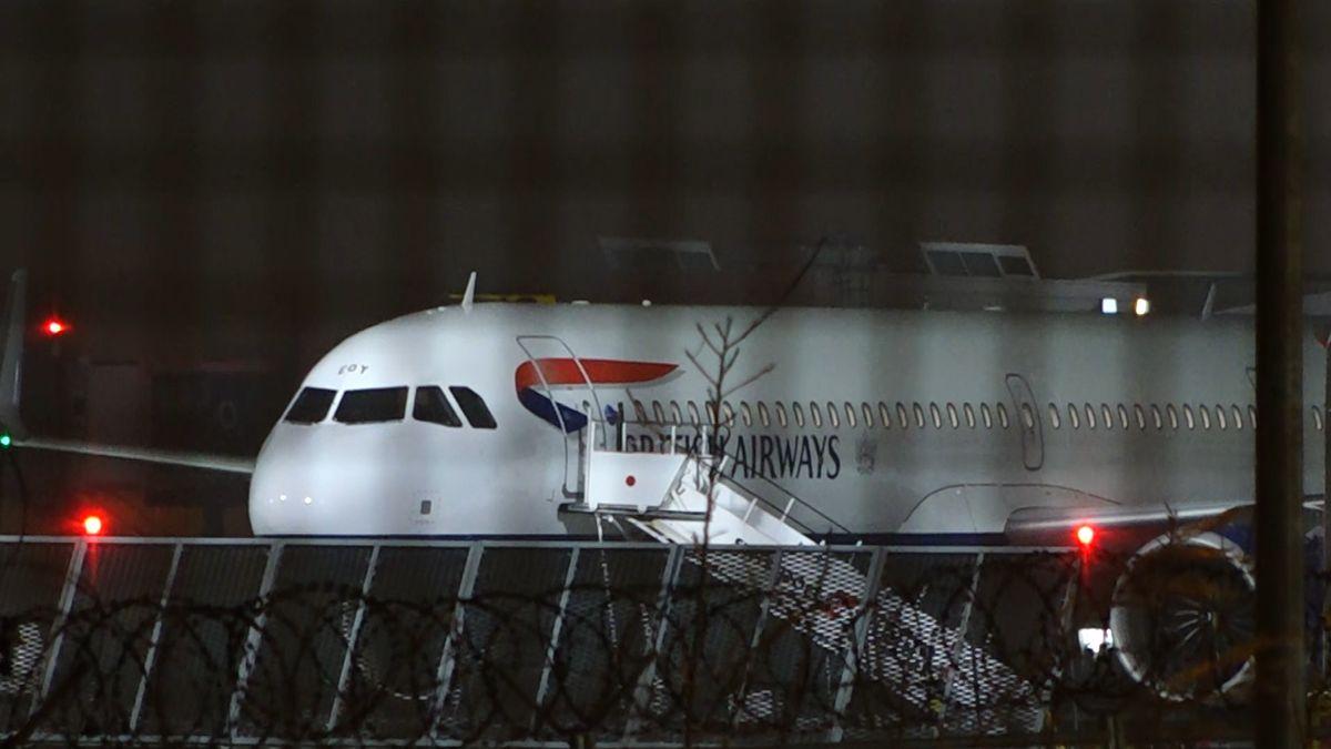 Diese British-Airways-Maschine landete am Sonntagabend am Münchner Flughafen.