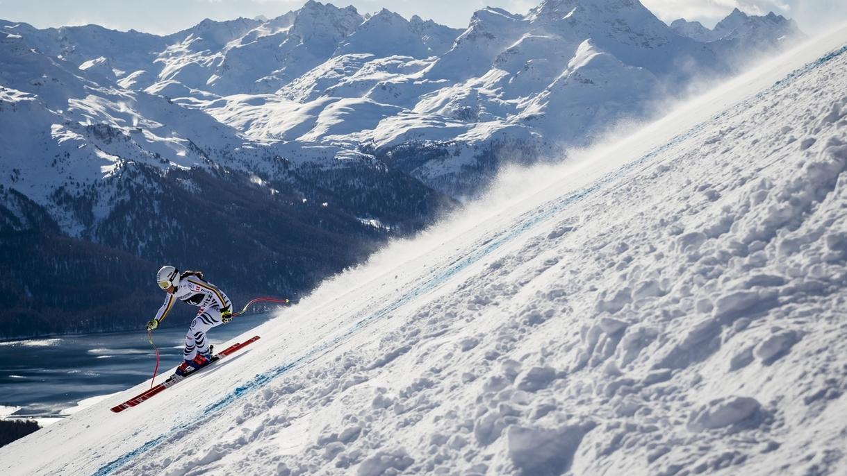Kira Weidle beim Super-G der Damen am Wochenende in St. Moritz