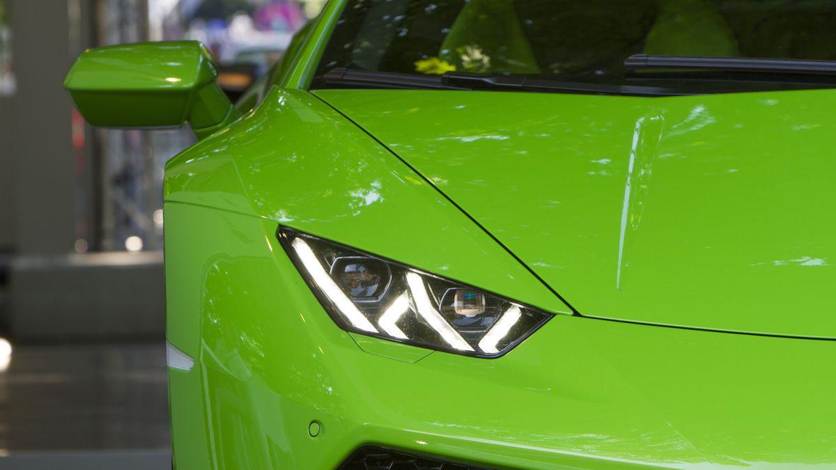 Symbolbild eines grünen Lamborghini Huracan
