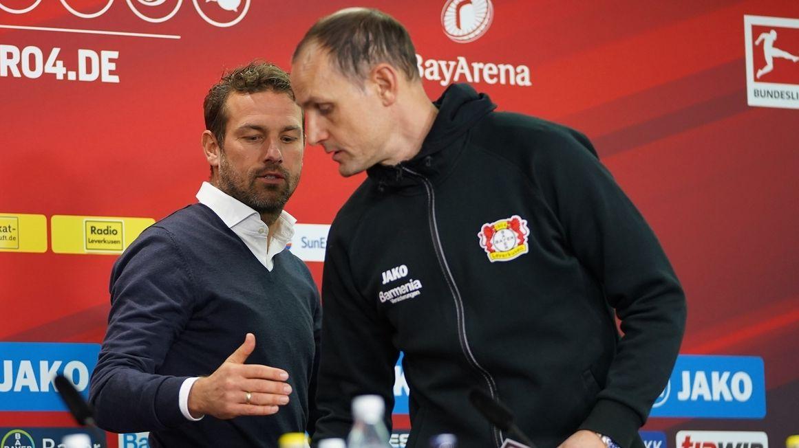 Markus Weinzierl und Heiko Herrlich (r.)