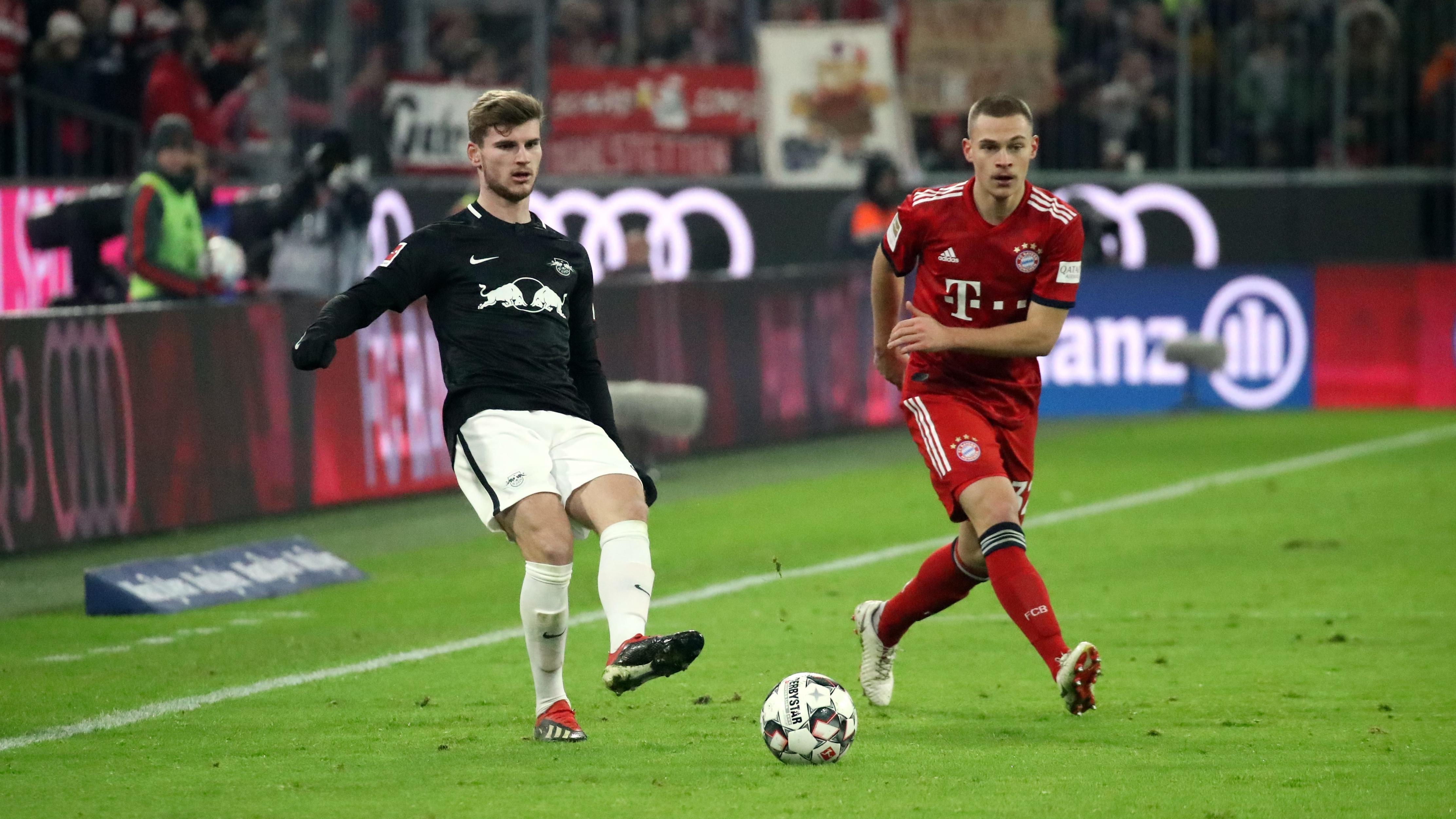 Timo Werner im Spiel beim FC Bayern München
