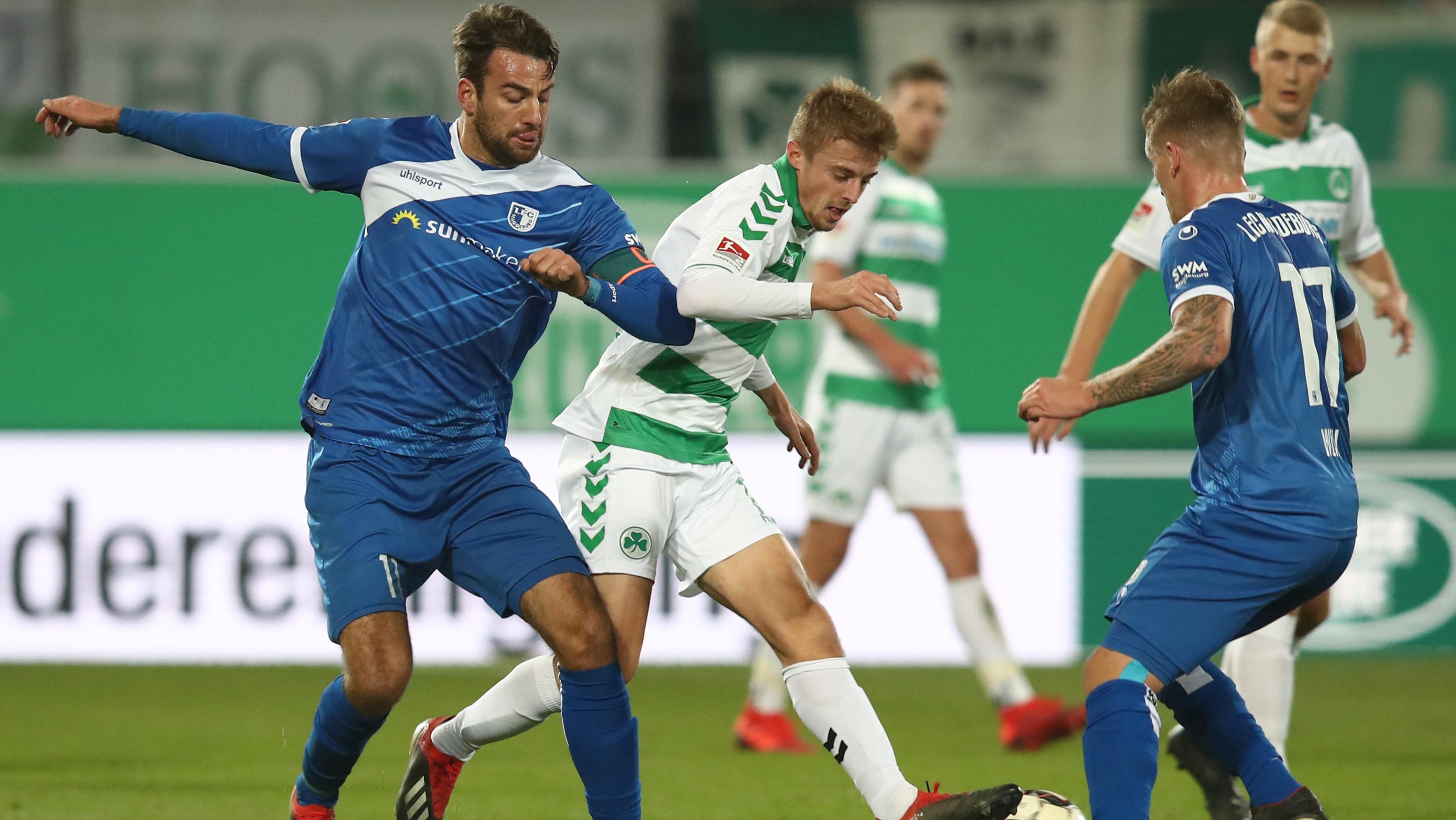 Spielszene SpVgg Greuther Fürth -1. FC Magdeburg