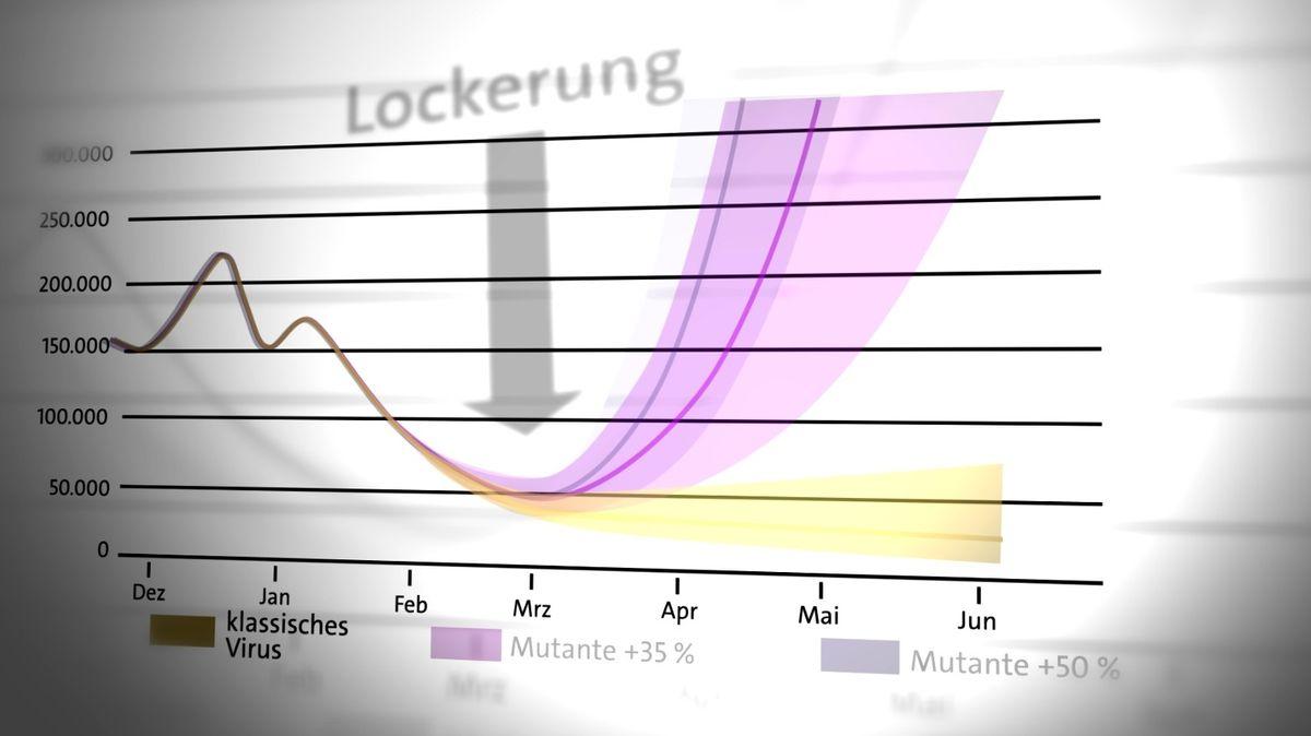 Grafik zu Prognosen der Inzidenz-Entwicklung