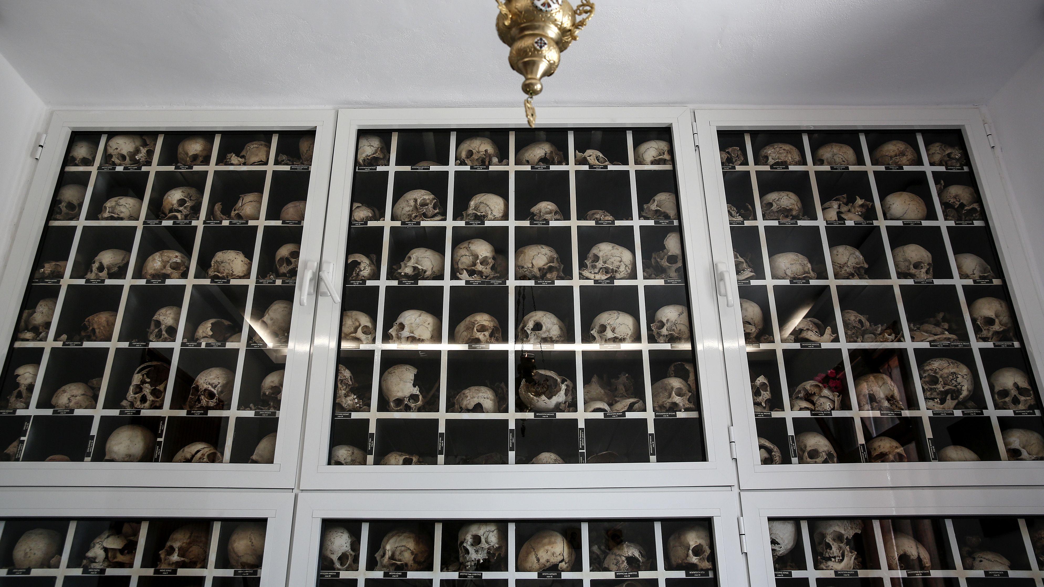 Die Gedenkstätte in Distomo: Bis heute ist das Verbrechen nicht vergessen.