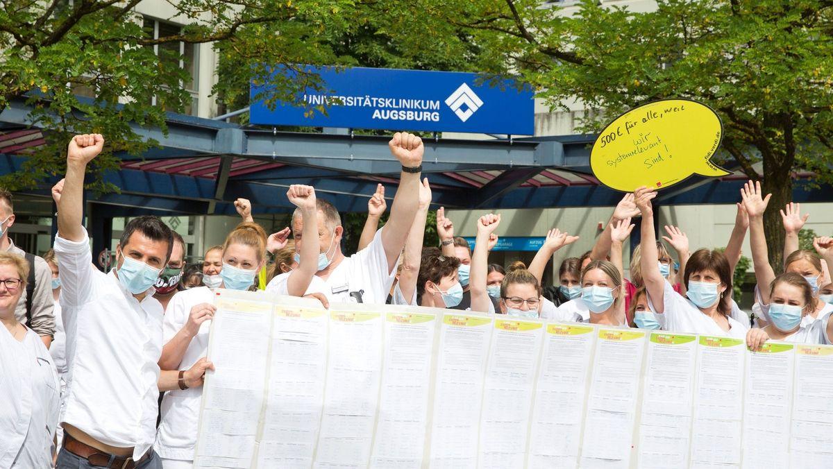 Beschäftigte an der Uniklinik Augsburg fordern mehr Personal in einer Petition
