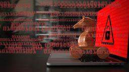 Trojanisches Holzpferd auf Laptop   Bild:picture alliance / Zoonar   Alexander Limbach