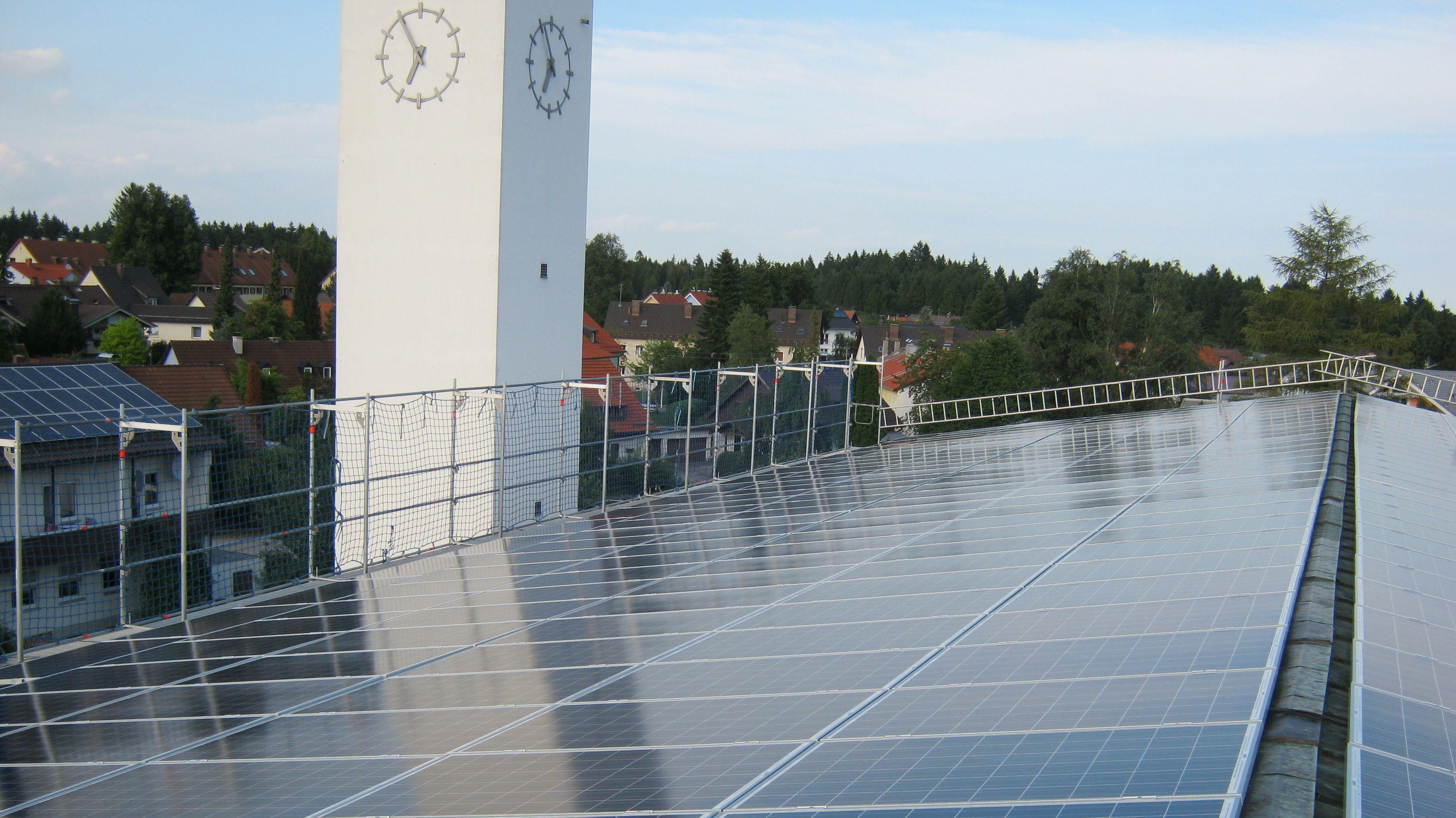 Solarenergie auf dem Kirchendach