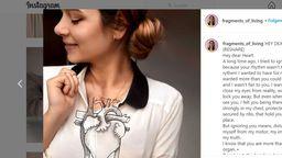 Gezeichnetes Herz auf Pullover | Bild:Screenshot / Instagramaccount: Framents_of_living