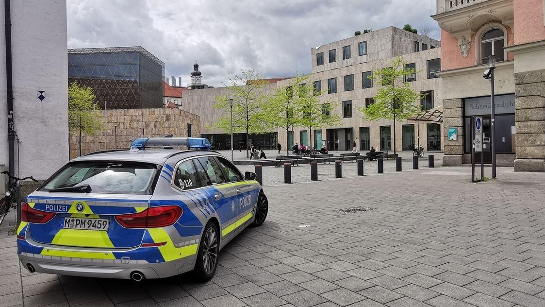 Polizeischutz vor Synagoge in München