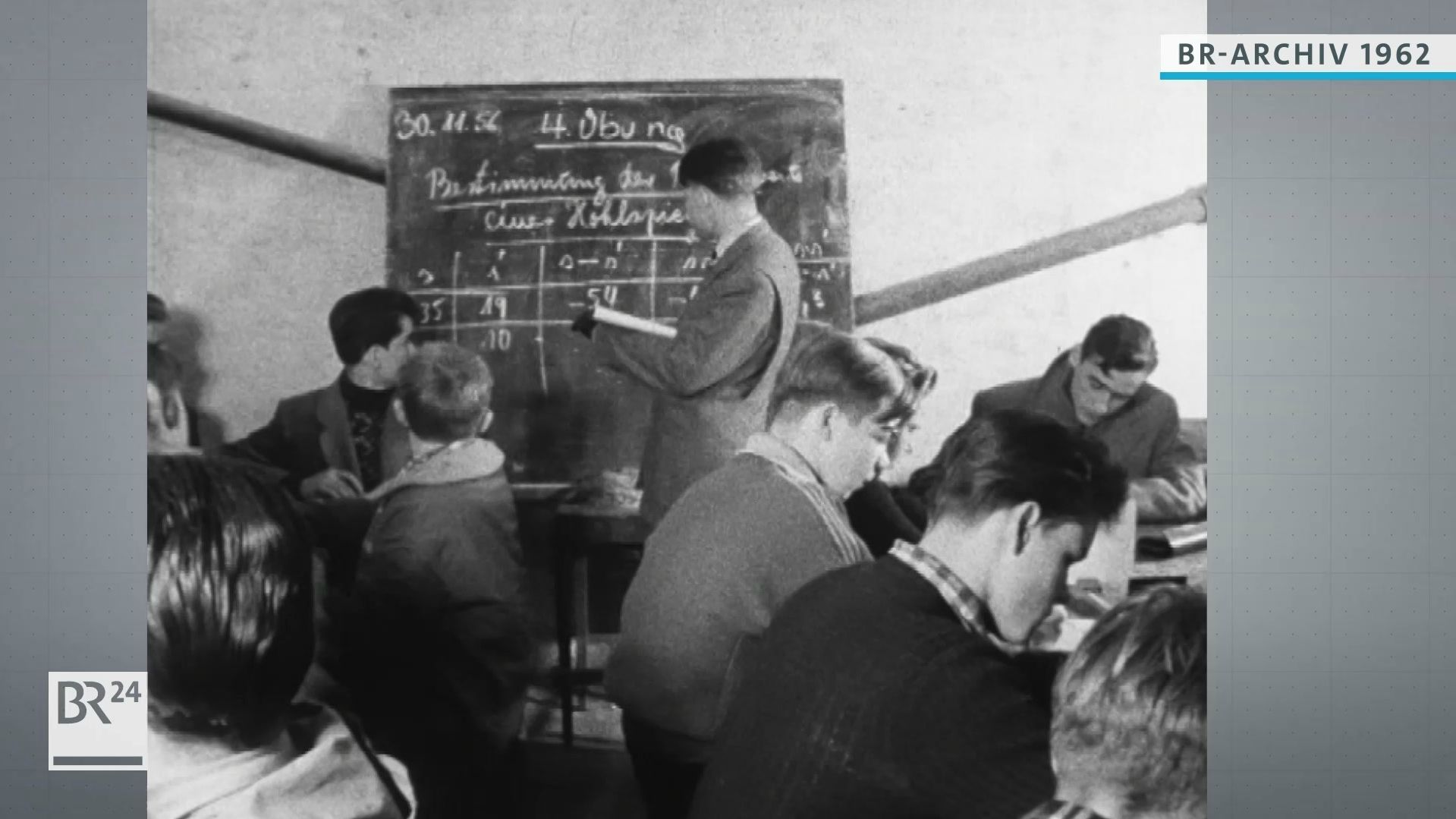 Unterricht in einem behelfsmäßigen Klassenzimmer