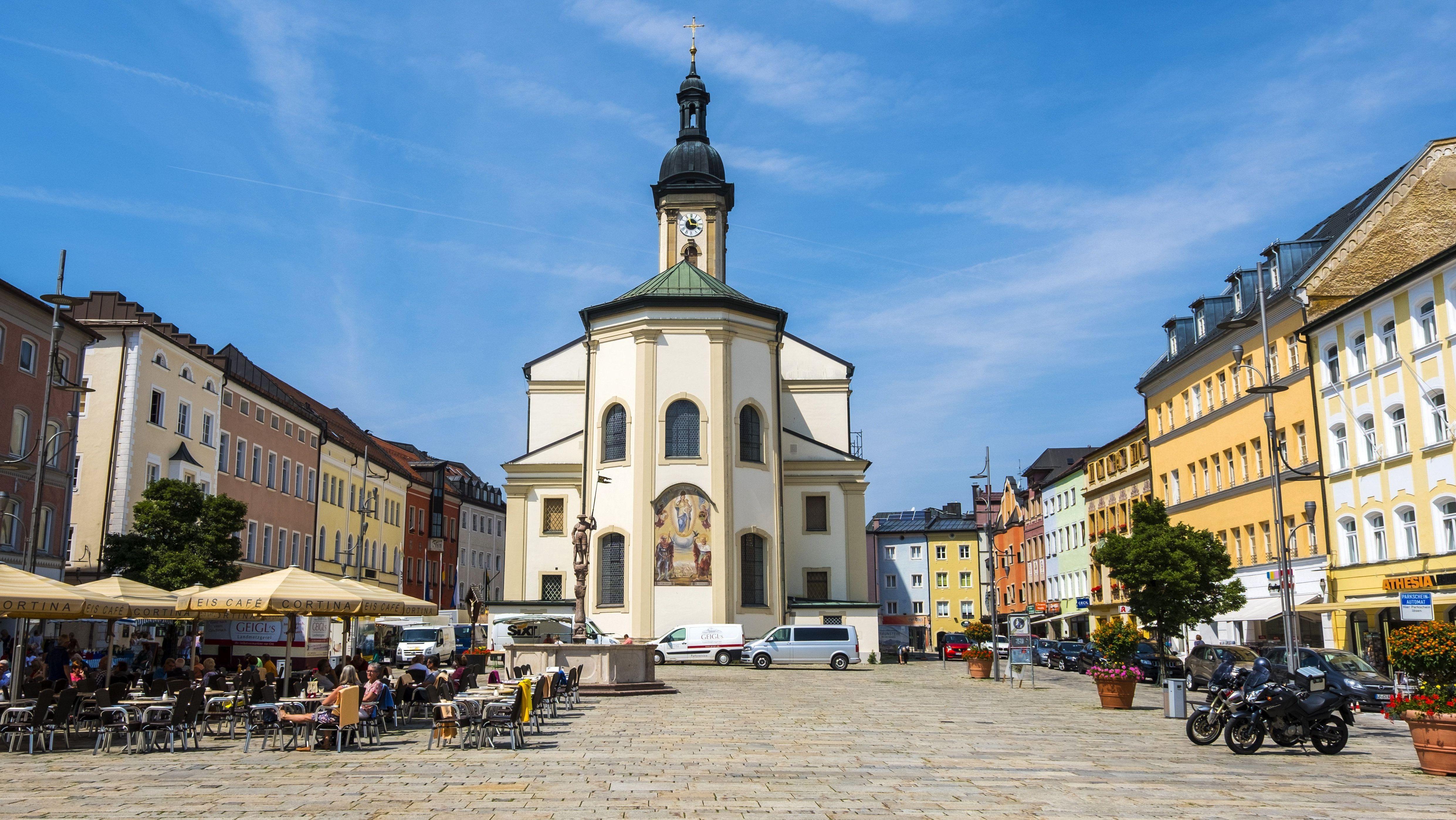 Die Innenstadt von Traunstein
