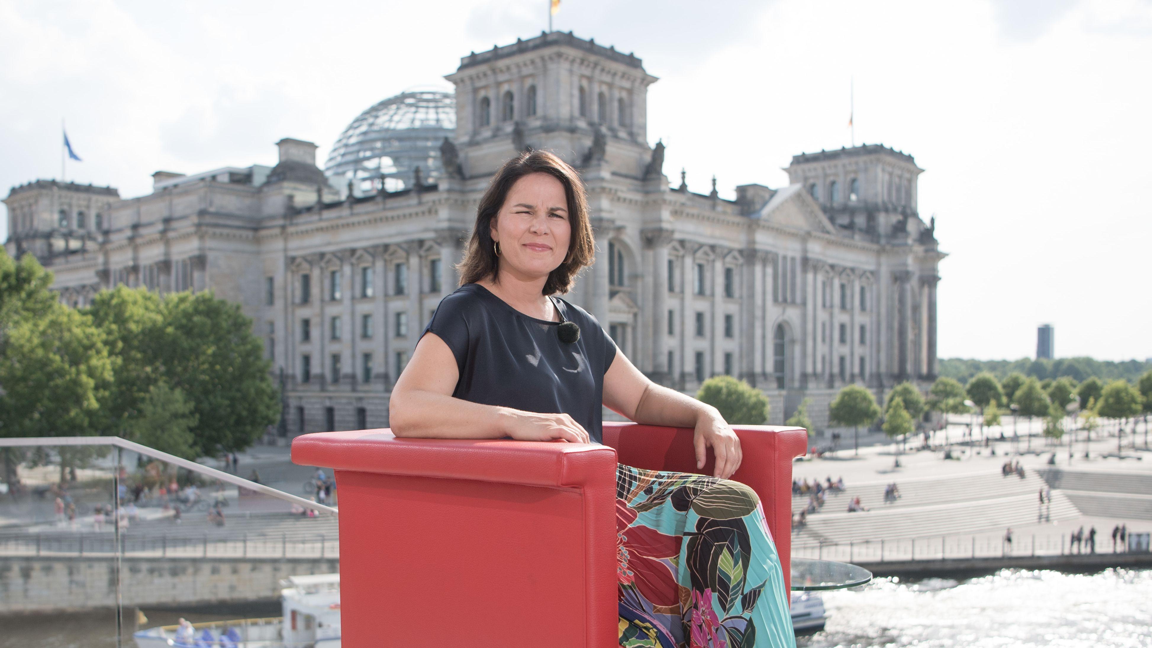 Grünen-Chefin Annalena Baerbock im ARD-Sommerinterview
