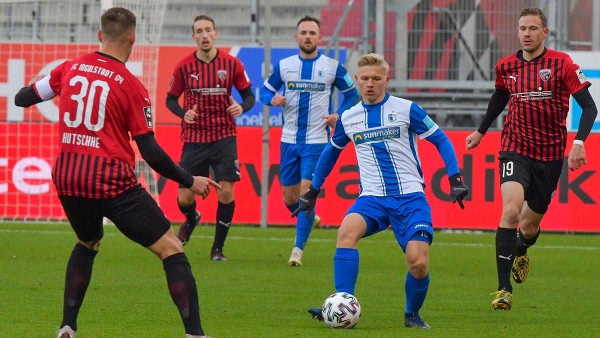 Spielszene FC Ingolstadt - 1. FC Magdeburg