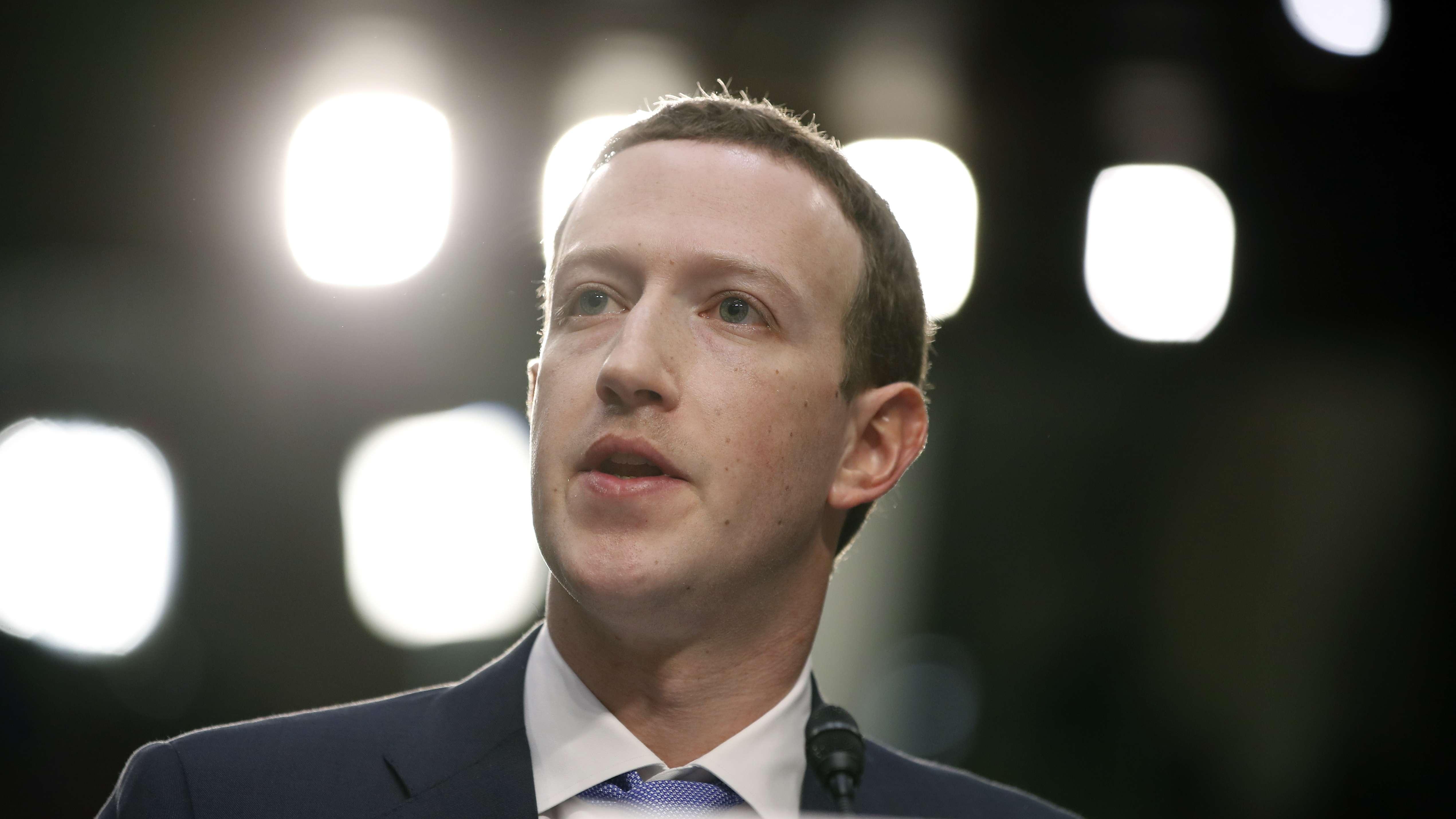 Zuckerberg in Anhörung