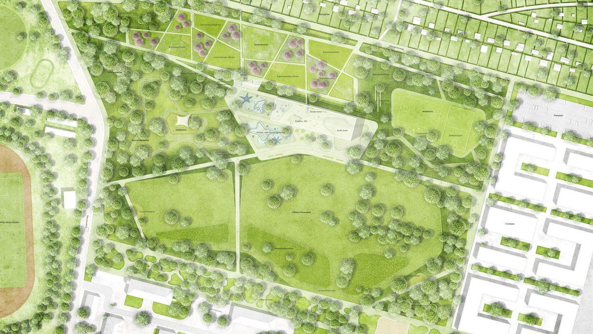 Der Siegerentwurf für den Bürgerpark zur Landesgartenschau in Schweinfurt